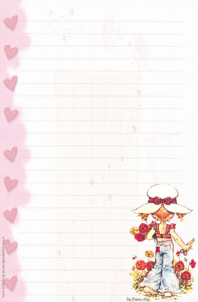 Papéis de Carta e Envelopes - Papel de Carta e Envelope - Papel de Carta e Envelope para imprimir: Sarah Kay                                                                                                                                                                                 Mais