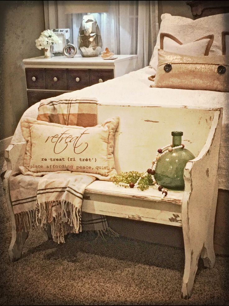 Refurbished church pew.  Adorable!  Possibilities are endless, foot of bed, front porch, mud room, entryway!  Painted white and heavily distressed!