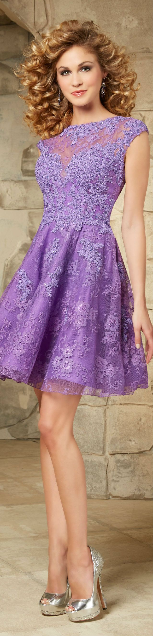 25+ best ideas about Purple lace dresses on Pinterest ...