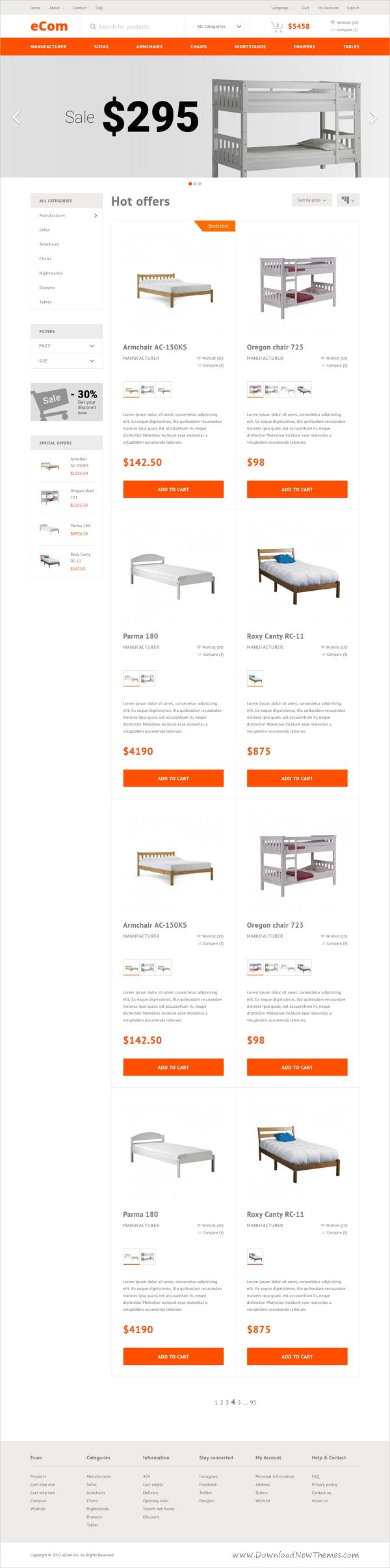 ecom is a wonderful responsive html bootstrap template for furniture shop stunning ecommerce