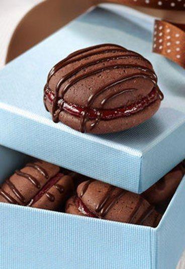 Geschenke aus der Küche: Kirsch-Kakao-Biskuits