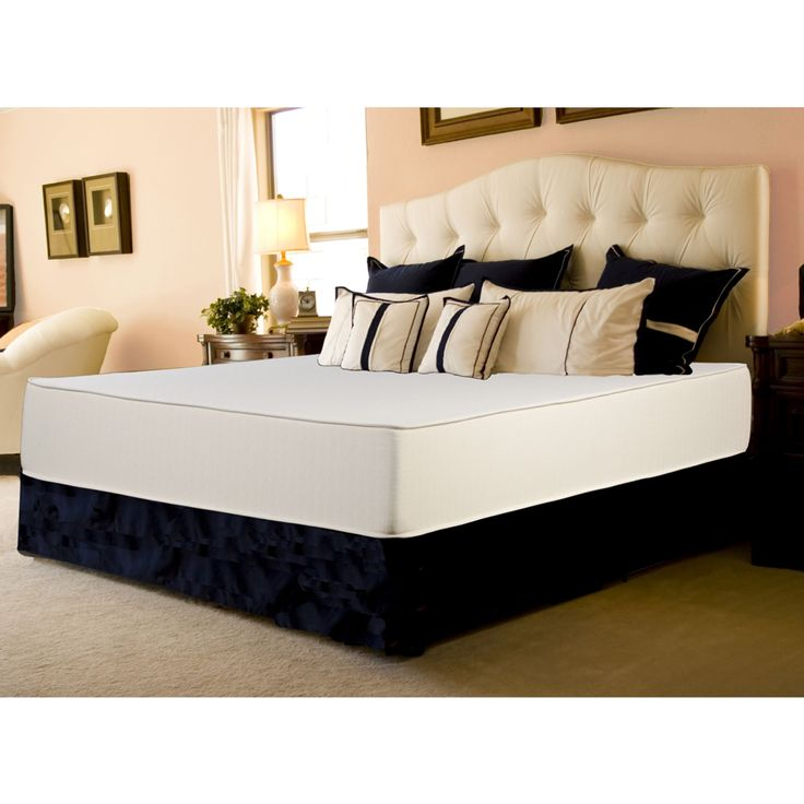 Select Luxury Flippable Medium Firm 10-inch Queen Size Foam Mattress and  Foundation Set ( - Best 25+ Cheap Memory Foam Mattress Ideas On Pinterest Cheap