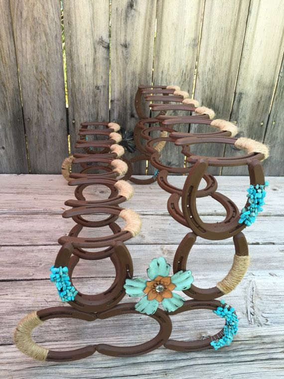 Horseshoe Boot Rack  Boot Rack  Six Pairs of Boots  Rustic