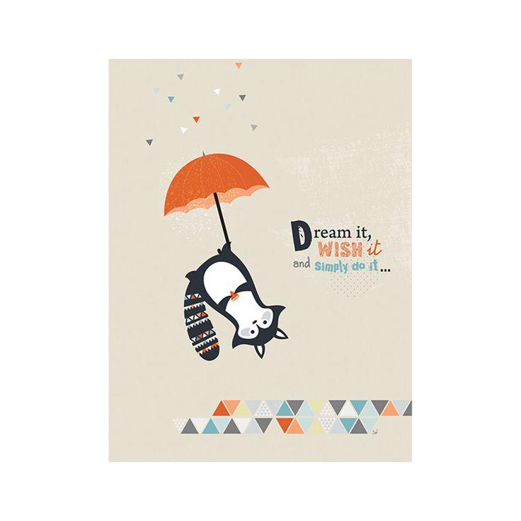 """Articolo: T1591""""Think Positive"""" è una stampa su tela per bambini realizzata con creatività da Lilipinso. La tela esalta il colore e il disegno del prodotto conferendogli un aspetto naturale. Ideale per impreziosire gli ambienti della tua casa, da sola o all'interno di composizione sarà la protagonista del tuo arredamento verticale. Porta allegria e fantasia nella tua stanza con questa stampa di design. Guarda gli altri prodotti della categoria Art"""