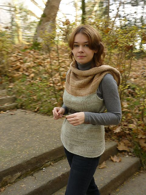 Ravelry: ing-wer's Inspired by MEIO. I wonder if I could crochet something like this. So many ways to wear it...so many possibilities!