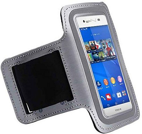 "myLife Futuristic Silver + Pepper Black {Rain Resistant Velcro Secure Running Armband} Dual-Fit with Key Slot Jogging Arm Strap Holder for Sony Xperia Z2 and Z3 ""All Ports Accessible"" myLife Brand Products http://www.amazon.com/dp/B00UM9KLLM/ref=cm_sw_r_pi_dp_tecjvb03WG1V5"