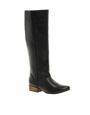 ASOS CLOVER Leather Knee High Boots
