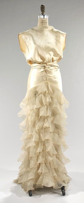 Look at those tiered ruffles!  Breathtaking! Vintage Dress circa 1935 #30s #evening #vintage
