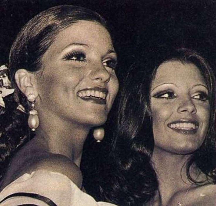 Judith Castillo Uribe, Miss Nueva Esparta y Elluz Peraza, Miss Guarico as Dos Candidatas Fuertes del Miss Venezuela 1976. Pero para Osmel Sousa su Gran Favorita era Elluz..