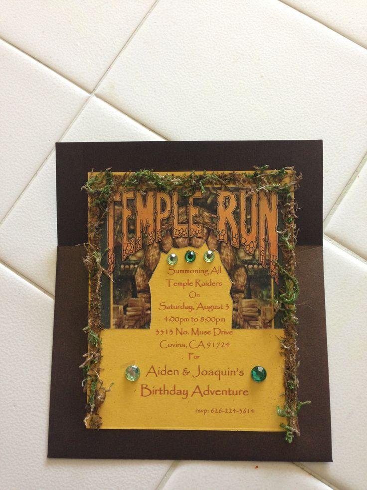 indianjones birthday party invitations printable%0A Temple Run Invitation  Birthday Party