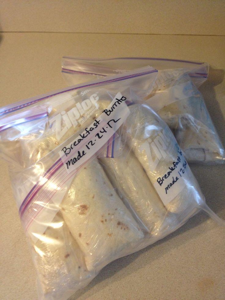 How to Make Breakfast Burritos in Bulk