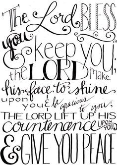 Scripture Chalkboard Art Print - May The Lord Bless You & Keep You ...