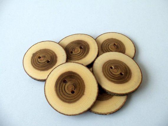 Wood Buttons  Branch Buttons  Slim  Handmade Wood Buttons