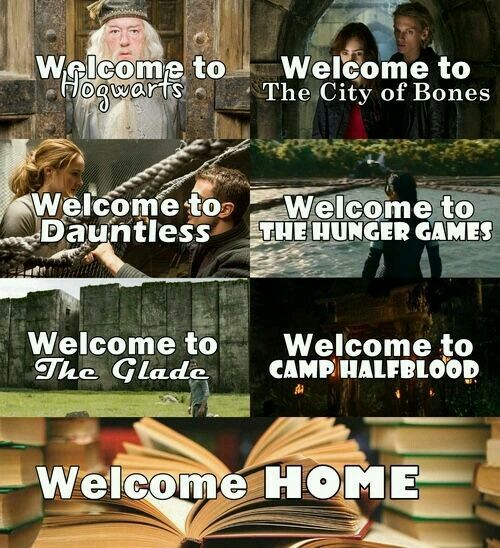 they were all home at some point (the hunger games, divergent... welcome to Erudite)