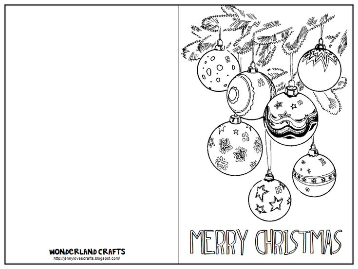 46 best CHRISTMAS CARDS TO COLOR images on Pinterest