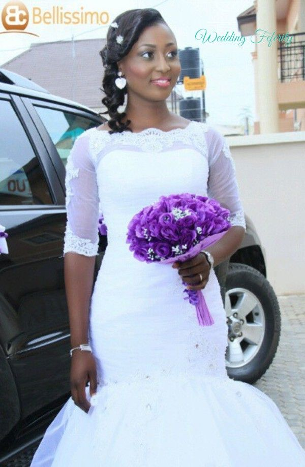 Nigerian Wedding Dresses 2015 - Over 50+ pictures of real brides wearing 2015 Nigerian Wedding Dresses - lace dresses, mermaid wedding gowns, and more