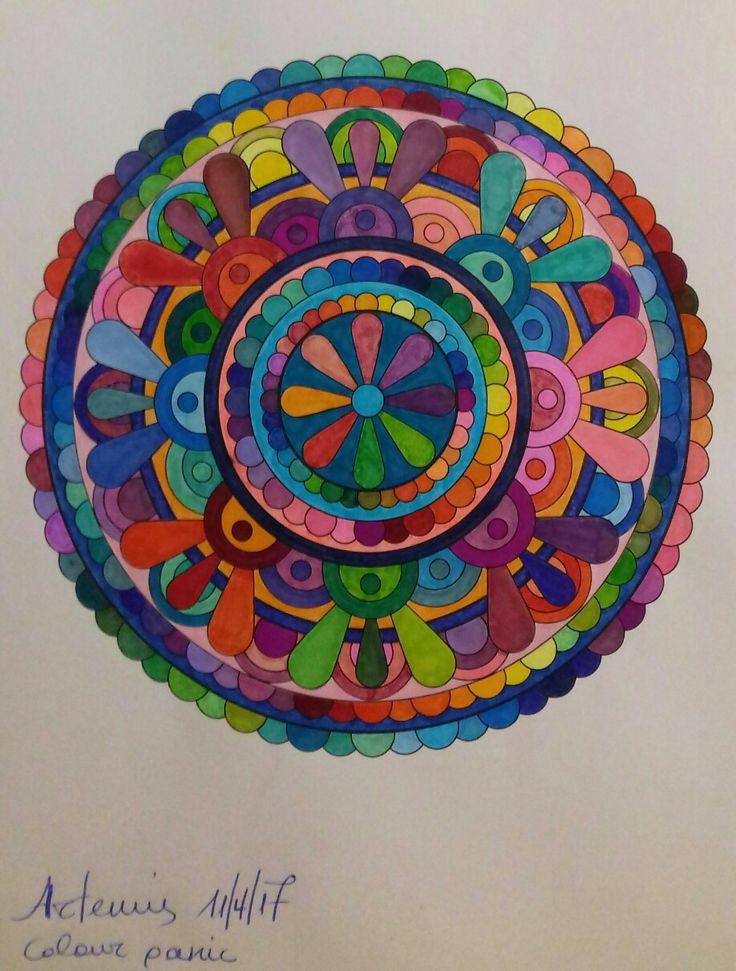 Colour panic, week 52, mandala design vol. 2 by Jenean Morrison coloured by Artemis Anapnioti.