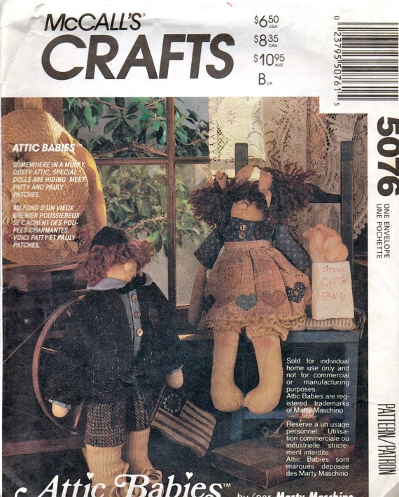 8 Best Images About Attic Babies Folk Art Sewn Dolls On