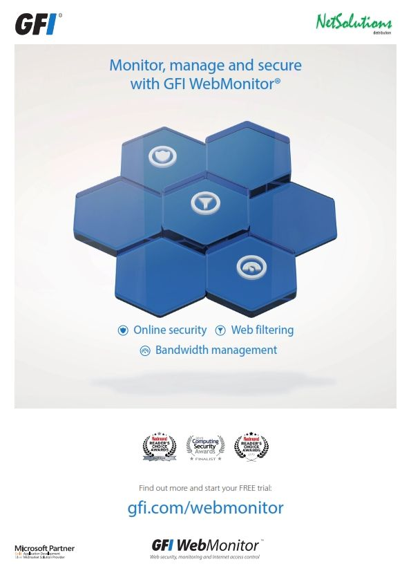PT. #Netsolutions Infonet Monitor, manage and secure with #GFI WebMonitor®