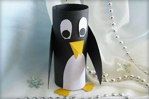 Bastelanleitung für Pinguin aus Papier