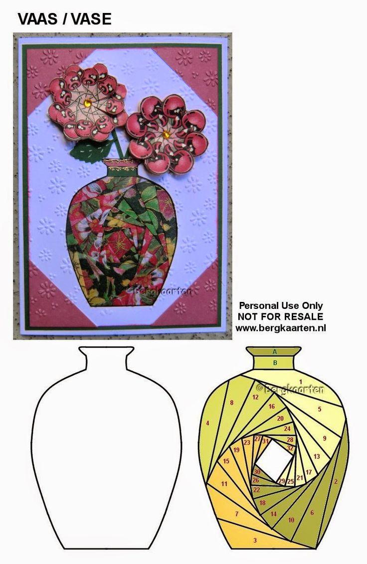 Irisvouwen: Vase