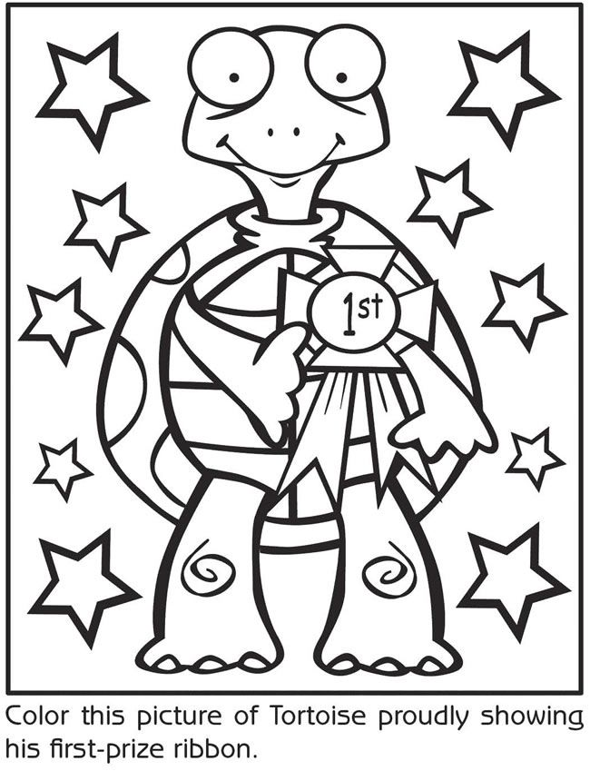 19 best hare and the tortoise images on pinterest turtle for Tortoise and the hare coloring page