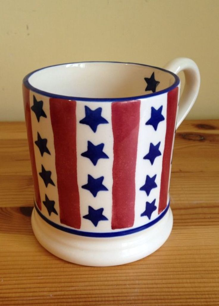 Emma Bridgewater Stars Stripes 0 5 Pint Mug Bebe