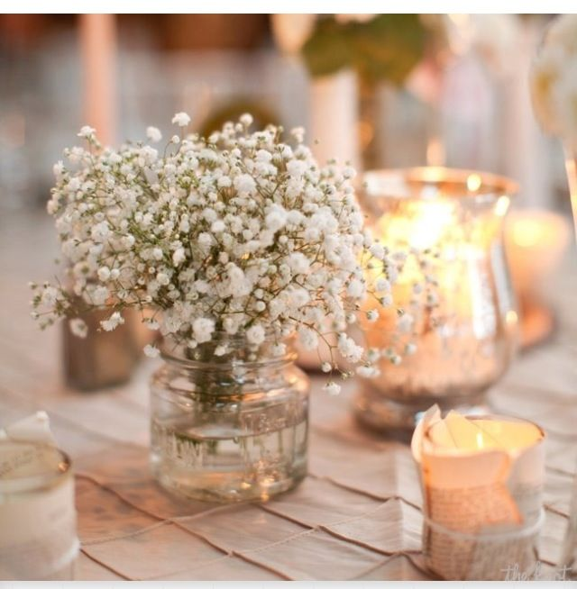 Glass centerpieces and small candles my wedding plans