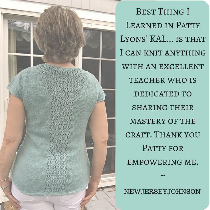 Lovely finished top from the Tortola KAL knit by NEWJERSEYJOHNSON on Ravelry!