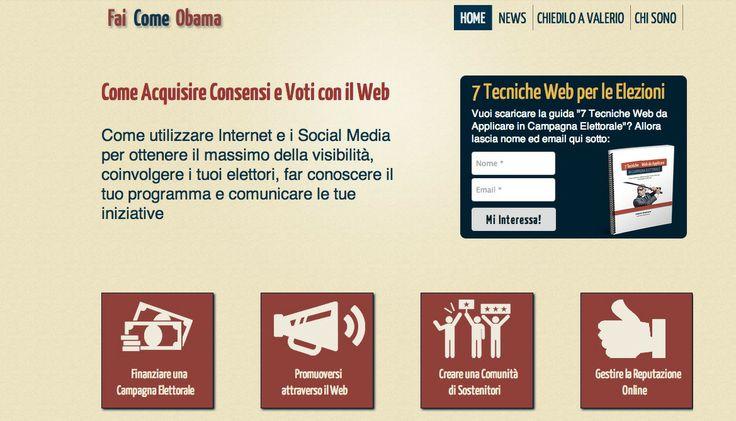Nicchia: Come Acquisire Consensi e Voti con il Web - by Valerio Quatrano - www.FaiComeObama.it