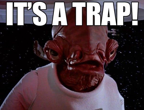R I P Admiral Ackbar Learn Japanese Admiral Ackbar It S A Trap Meme