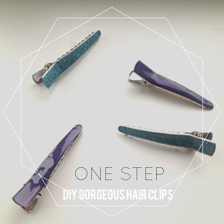 One step DIY Gorgeous Hairclips #diy #fashion #crafts #hairclips