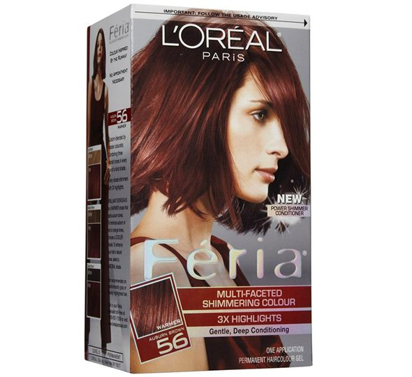 L'Oreal Feria Hair Color in Auburn Brown