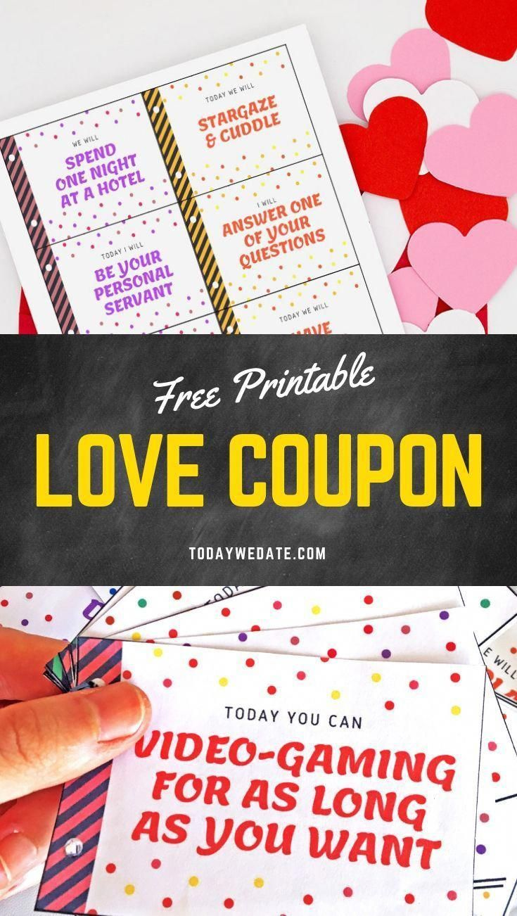 photo relating to Printable Luv Coupons titled Totally free Printable Appreciate Discount coupons In direction of Ponder Your Boyfriend