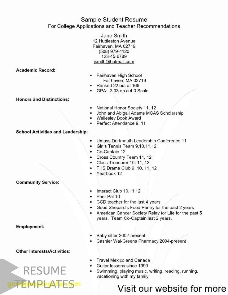 resume template free Best 2020 in 2020 Resume template