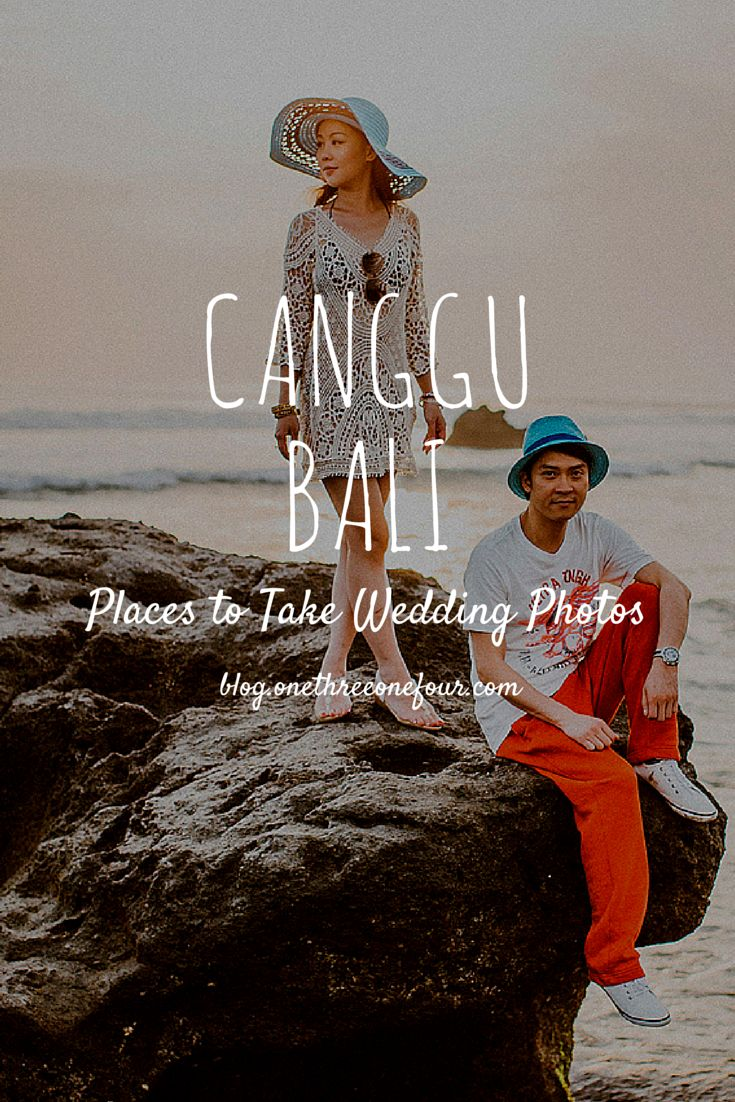 In our Places to Take Wedding Photos in Bali series, we introduce you wedding photo taken at the rice fields of Canggu and black sand beaches. Photos by Apel Photography