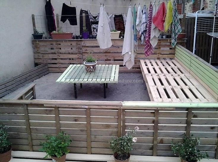 If you really desire to enjoy beautiful weather at your terrace but worried about the thing that how to furnish your small terrace with a perfect wooden furniture then try this pallets wood patio lounge. It is not only simple to create but at the same time, provide enough seating place at your terrace and outdoor space.