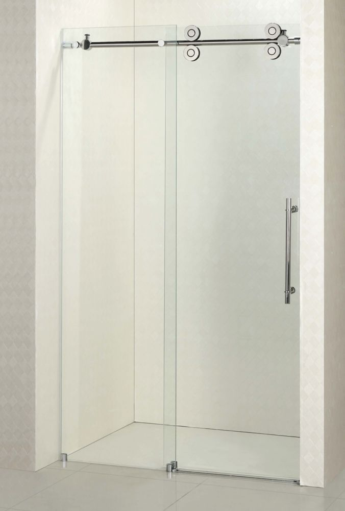 Frameless Frosted Shower Door In 10mm Glass 72e Small Shower Remodel Bathtub Shower Remodel Frameless Shower Doors