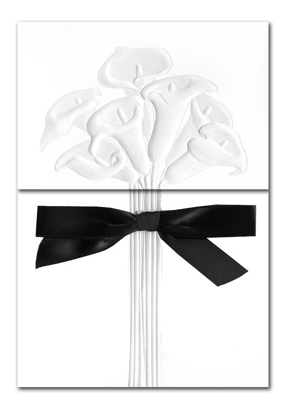 Bouquet of Lilies - Wedding Invitations by Invitation Consultants. (Item # CC-WM4793-73 )