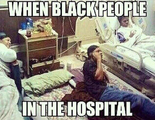 Black people in hospital