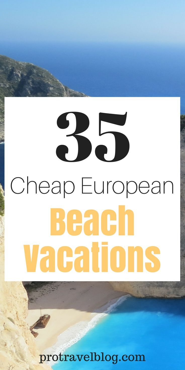 Looking for a beach vacation in Europe? Here are 35 cheap beach destinations in Europe that won't break the bank. Click here to check out these gems!