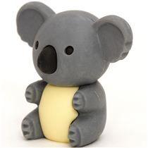 grey koala bear eraser by Iwako from Japan