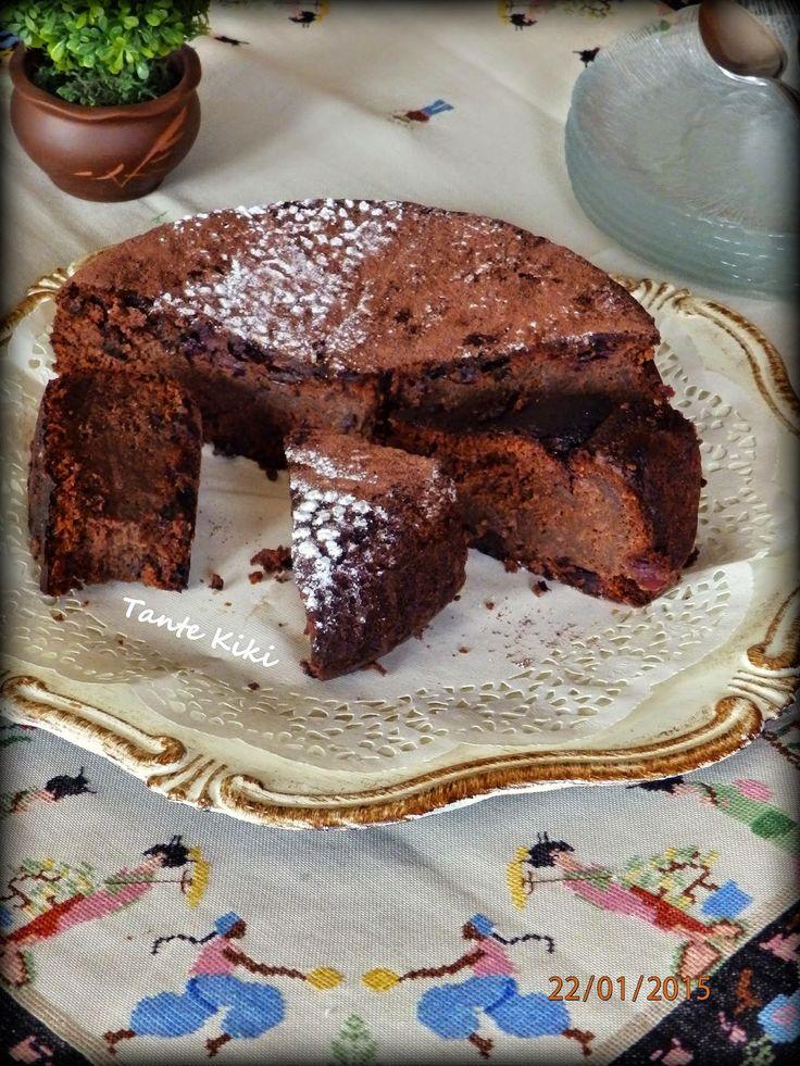 Tante Kiki: Σοκολατένια  'τούρτα' χωρίς αλεύρι ...το γλυκό των...