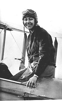 At the age of 26, Amy Johnson became the first female pilot to fly alone from Britain to Australia.