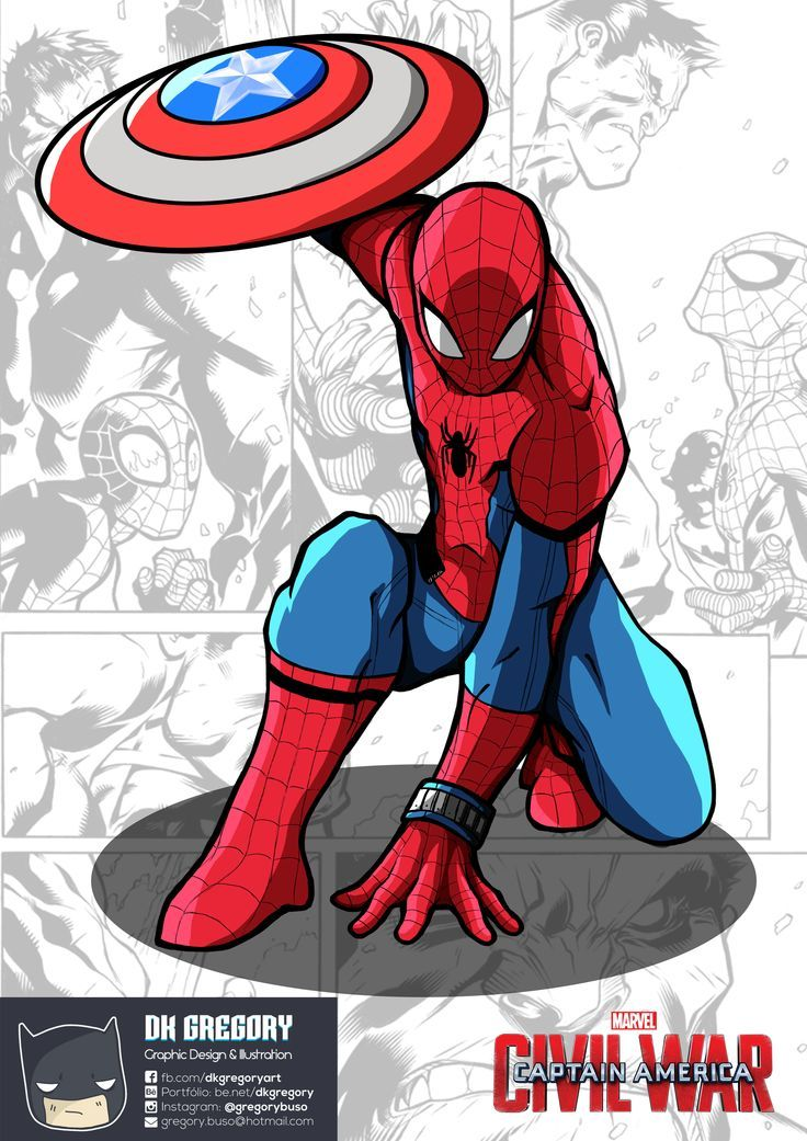 #Spiderman #Fan #Art. (Spiderman Civil War) By: DH Gregory. ÅWESOMENESS!!!™ ÅÅÅ+