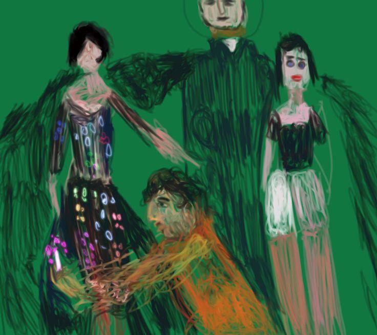 https://flic.kr/p/Hr4bNV | Huszti Zoltán Nagyfestő Hitvalló, Amadeo Modigliani B. Hastings ruháját rajzolja, a képen feltünik Tölgyő huga, Huszti Z. N.F. uralja a jelenetet