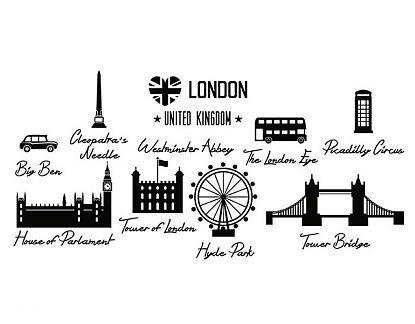 Vinilos decorativos ciudades famosas Londres 04834