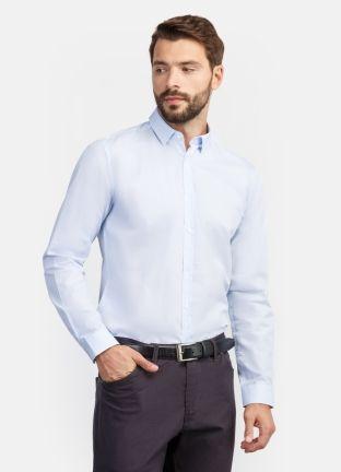 Рубашка в микрогеометрический принт за 2199р.- от OSTIN
