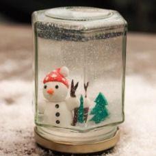 La palla di neve - un'idea fai da te per il Natale