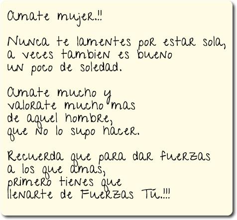 Amate mujer..!!!
